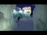 Девушка во льдах очень красиво играет на скрипке под дабстеп - YouTube (720p)