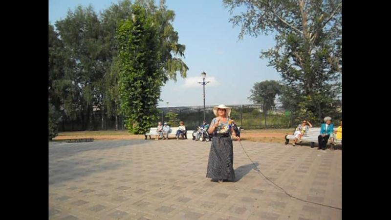 Плывет веночек - Тамара Котлакова. Субботний вечер в парке. 2.07.16г.