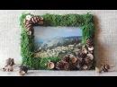 Рамка для фото с декором из мха. Мастер-класс