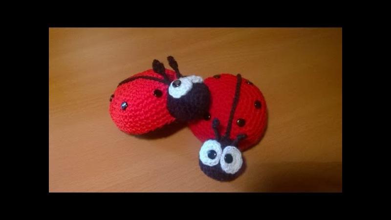 Coccinella Uncinetto Amigurumi Tutorial - Ladybug Crochet - Mariquita Croche Joaninha Croche