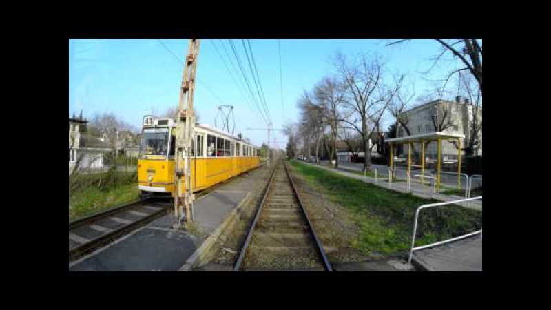 41 es villamos Kamaraerdő Bécsi út 4K