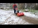 Подметально-уборочная машина FORZA УМ-800 приставка снегоуборщик