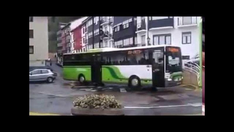Yaponiyada çarələr tükənmir Avtobus dönə bilmədiyi üçün dönən yol düzəldiblər