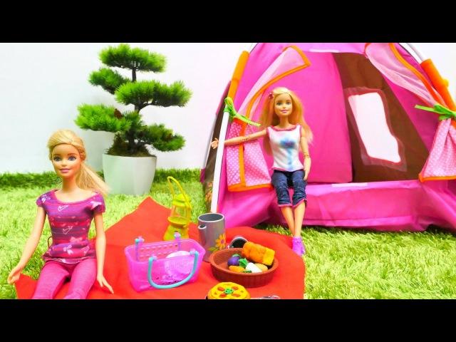 Barbieoyunları. Barbie, Ken ve Kardelen kamp yapıyor. Kızoyuncakları