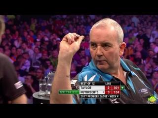 Phil Taylor vs Kim Huybrechts (2017 Premier League Darts / Week 4)