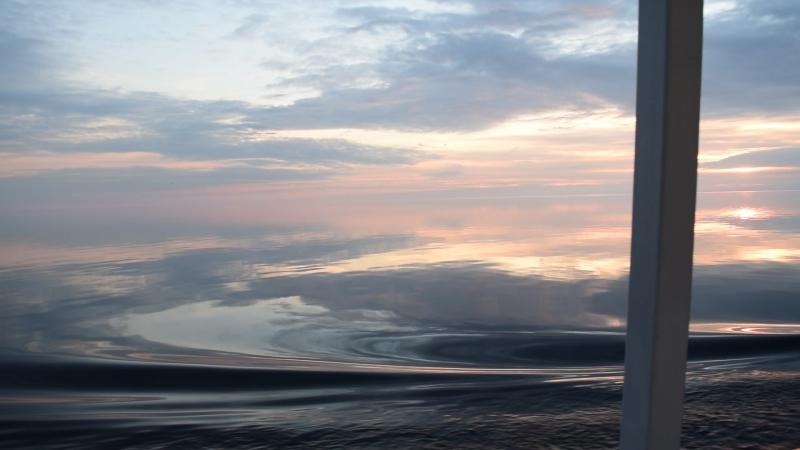Закат на озере Ладога