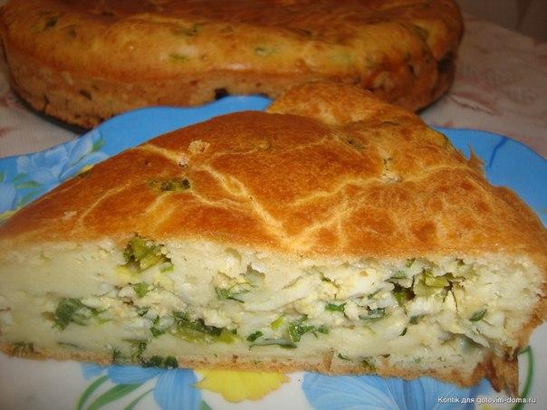 Быстрый пирог с яйцами на кефире рецепт с