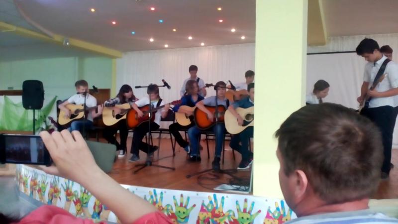 Наш первый отчетный концерт Композиция Гимн восходящего солнца