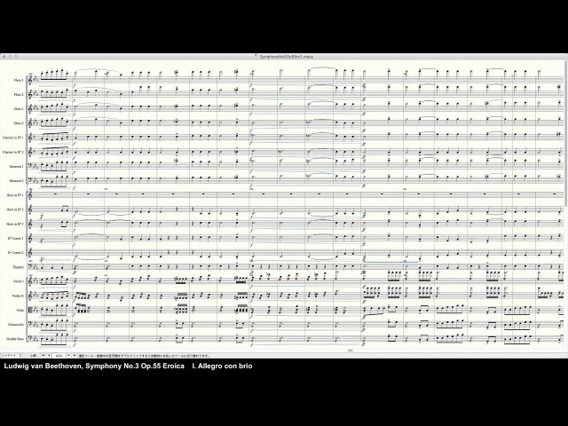 Beethoven Symphony No.3 Op.55 Eroica - Programed in Finale 2014 by pkmtKuma