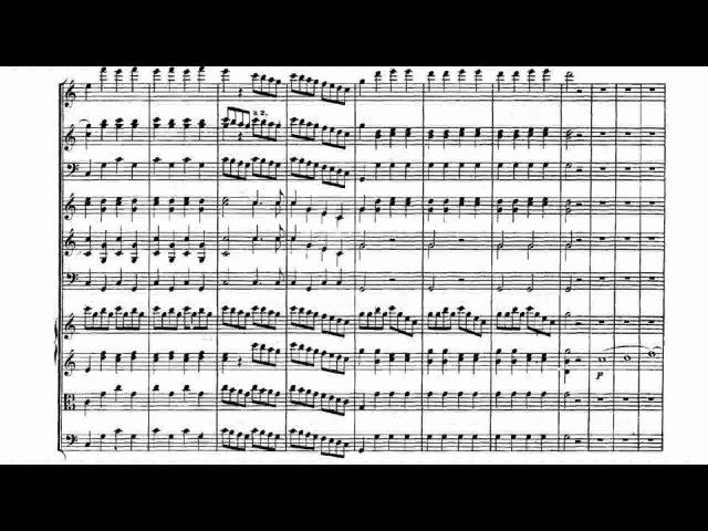 Mozart Symphony No 41 IV Sheet Music Score 莫扎特第四十一交響曲第四樂章 樂譜版本影片 Sheet Music Video