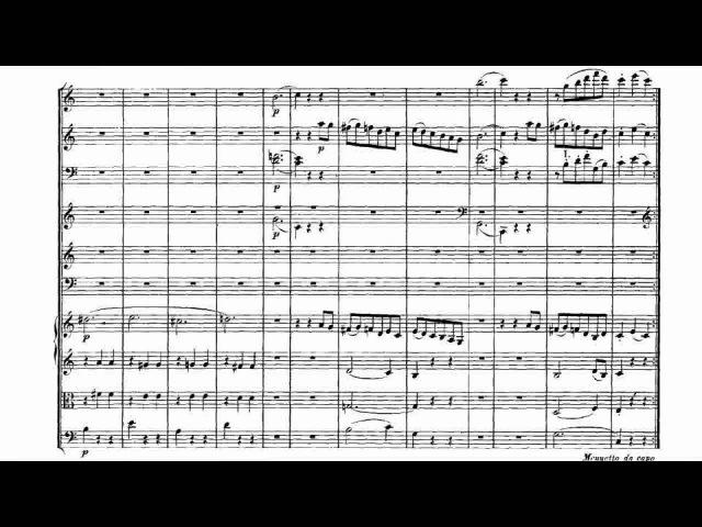 Mozart Symphony No 41 III Animated Static Score 莫扎特第四十一交響曲第三樂章 樂譜版本影片 Sheet Music Video