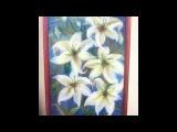 картина из шерсти видео лилия видео  picture of wool lily