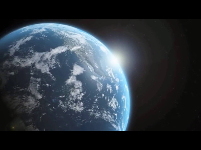 вид Земли с растояния 350км от Нее