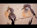 Chinese Bird and Flower Painting Blue Flycatchers