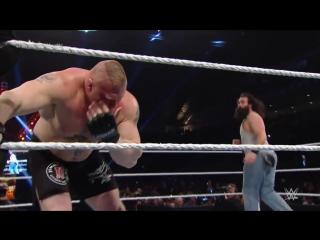 Brock lesnar vs. the wyatt family - 2-on-1 handicap match