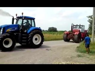 Экспериментатор. Битва тракторов - New Holland T8030 vs К-701 Кировец, кто кого?