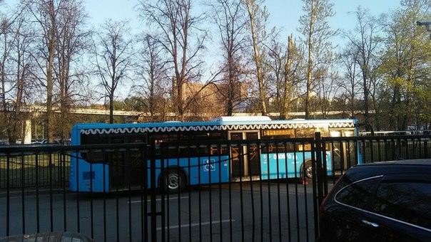 Автобусы уже брендированы. Дизайн прижился.