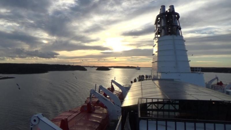 Озеро Меларен на закате
