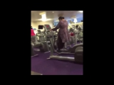 GYM FAIL! Indian Lady Improperly Operates an Elliptical Machine (Hilarious)