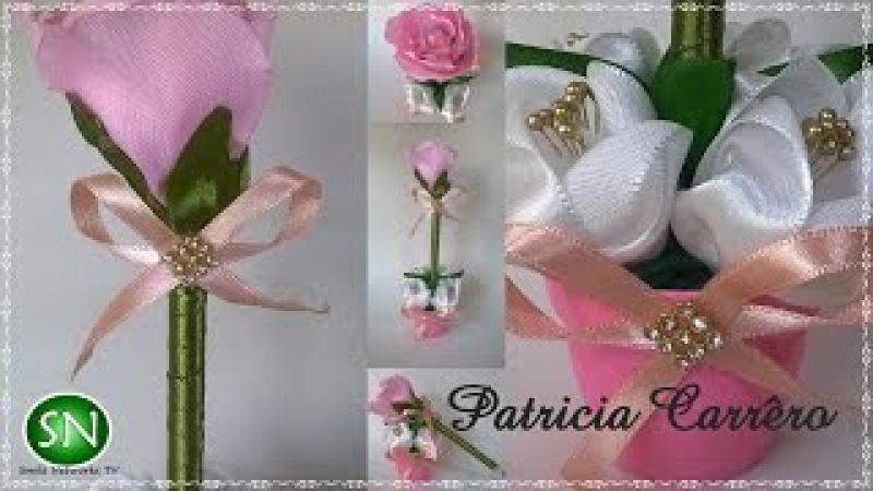 Caneta com ponteira de rosa no vasinho DIY \ Pen with pink tip in the little vase