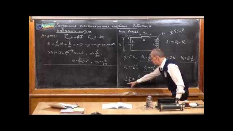 Урок 355 Затухающие электромагнитные колебания