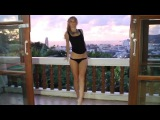 Russian blonde dance barely nude