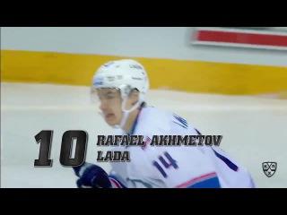Лучшие силовые приёмы пятой недели КХЛ 29.09