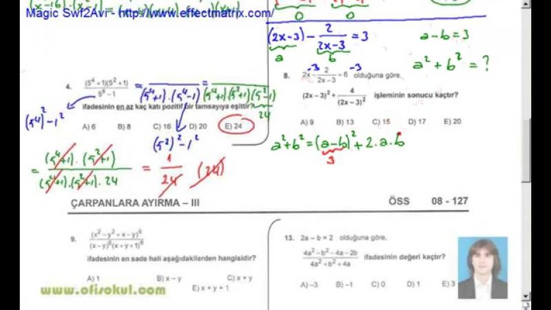 31-Çarpanlara Ayırma 3 - Matematik Soru Çözme Seti - KPSS - YGS - LYS