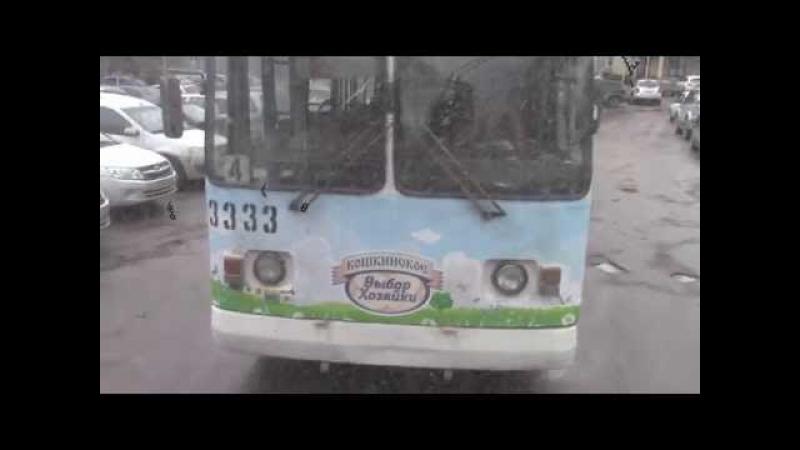 Салон троллейбуса ЗИУ 682Г №3047 г Тольятти