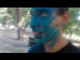 фестиваль красок - Ромчику прям в лицо