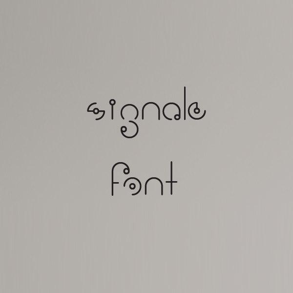 Signale шрифт скачать бесплатно