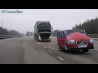 Экспериментатор. Испытание тормозной системы Volvo при загрузке 40 тонн.