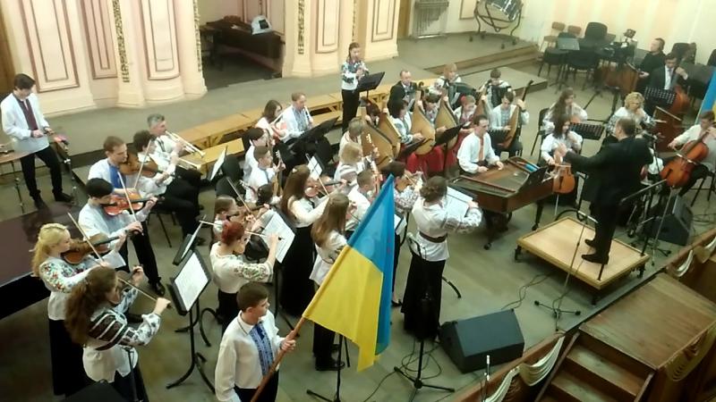 Звітний концерт ЛДМШ №2 ім. М. Колесси Оркестр народних інструментів - Козацький марш