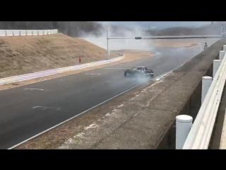 Daigo Saito ZO6 test at FSW
