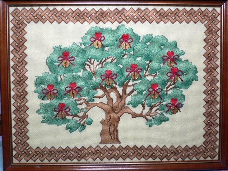 денежное дерево вышивка крестом схема