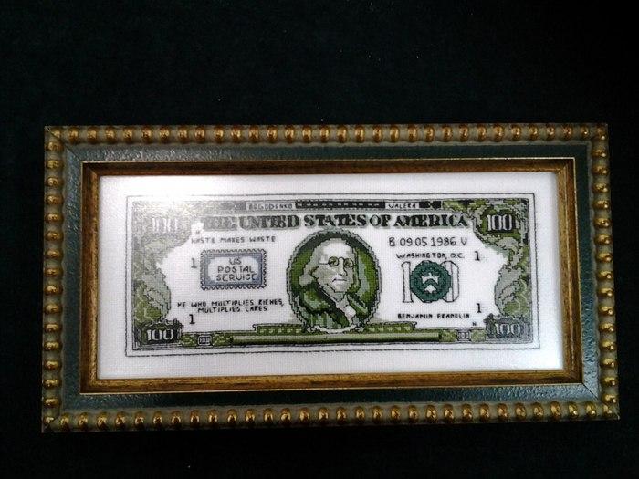 схема вышивки доллара