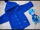 детское пальто крючком часть 3 рукава