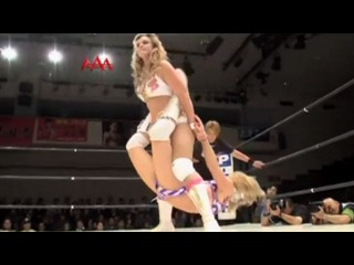 Blond Jennifer Blake Beats Down Masked Sexy Starr, Female Wrestling Domination