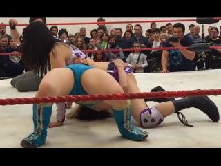 Taller Girl Wins: Makoto Vs Koharu Hinata, Female Wrestling Squash Match