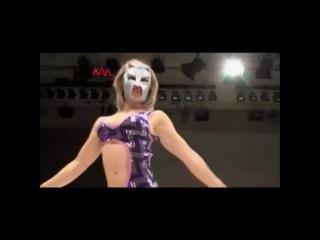 Masked Sexy Starr Beats Down Blonde Jennifer Blake, Female Wrestling Domnation