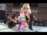 Candice Wins! Candice LeRay Vs Ivelisse Female Wrestling Squash Match