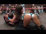 Dark Angel Sarah Stock Vs Skylar Rose, Female Wrestling Squash Match