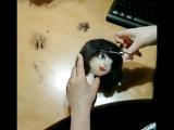 Текстильная кукла ✿ Волосы для куклы из шерсти ✿ МК Юлии Наталевич