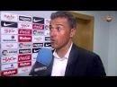 Luis Enrique satisfecho con la victoria en Gijón