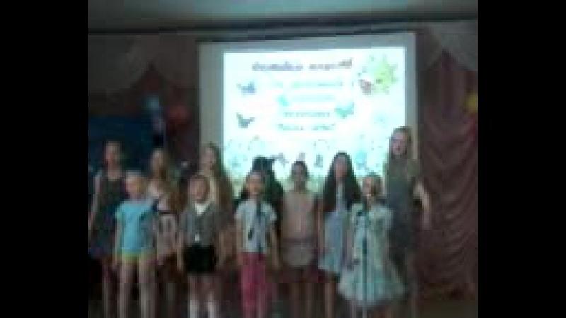 Второй отряд нашей площадки участвует в конкурсе Песня лета