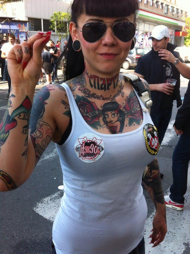 Ultras tifo forum female ultras football girls for Tattoo shops belgrade mt