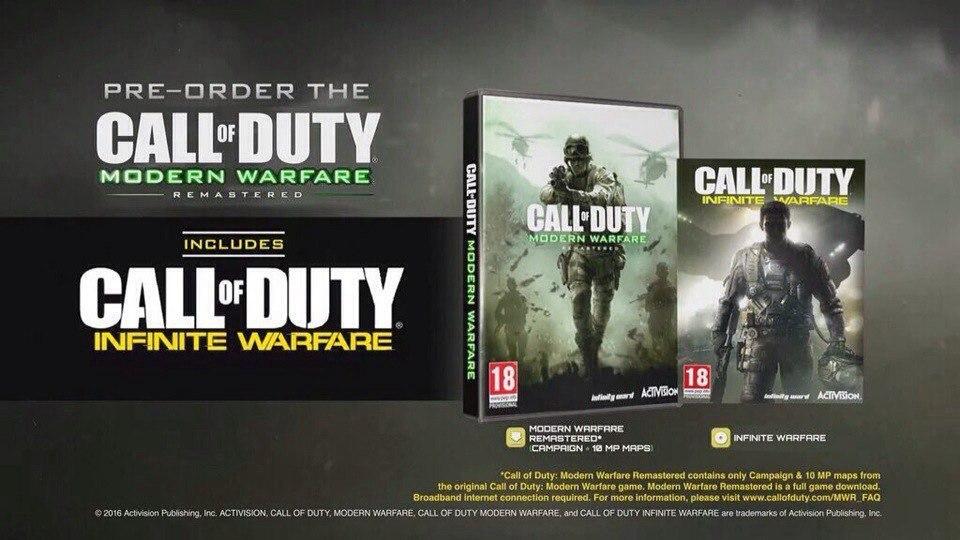 Обновленное издание Call of Duty 4: Modern Warfare нельзя купить отдельно