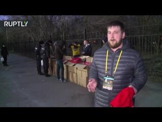 Фанаты «Манчестер Юнайтед» получили от болельщиков «Ростова» тёплые пледы