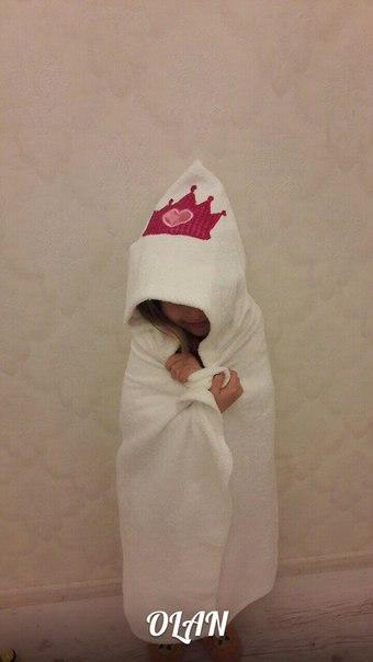 Махровое полотенце с капюшоном OLAN Полотенце размер 100х70 Полотенц