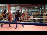бой Алиева Эмиля бойца клуба РАРОГ на открытом ринге по тайскому боксу в Академии силы 30.06.2016